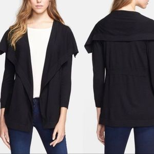 Theory Maritza Preen black cardigan large